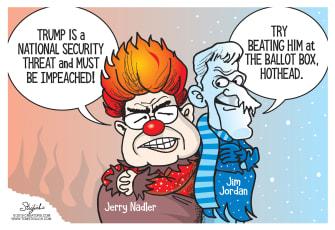 Political Cartoon U.S. Trump Impeachment Nadler Jordan Miser Brothers