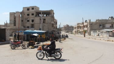 A spot near the sight of the chemical weapons attack in Idlib province, Syria