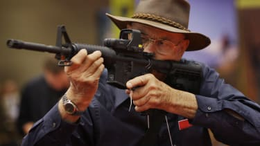 An NRA member at the annual meeting.