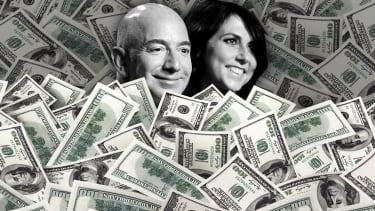 Jeff and MacKenzie Bezos.