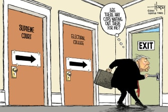 Political Cartoon U.S. Trump prosecution