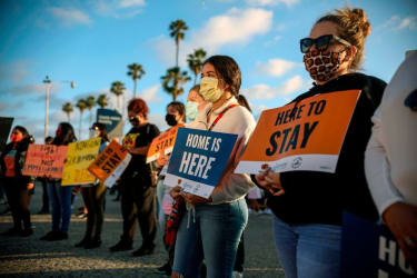 Supporters of DREAMers.