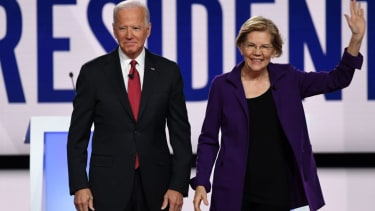 Democratic nominee Joe BIden and Sen. Elizabeth Warren.