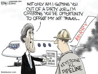 Political Cartoon U.S. kerry keystone xl pipeline