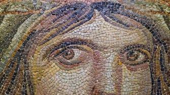 A mosaic representation of a Maenad.