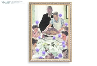 Editorial Cartoon U.S. Thanksgiving COVID Norman Rockwell