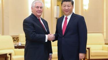 Rex Tillerson and Xi Jinping