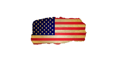 A faded, torn American flag.