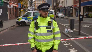 Police stand guard near London's Borough Market
