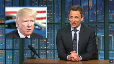 Seth Meyers laughs at Trump and his terrible week
