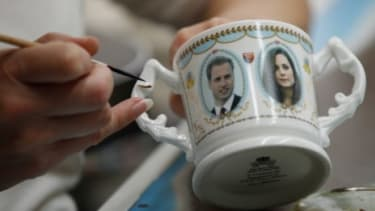 Commemorative mugs, plates and cups are already being produced to mark the engagement between Prince William and Kate Middleton.