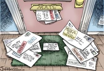 Editorial Cartoon U.S. COVID stimulus check