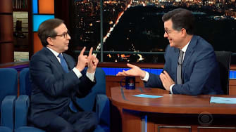Chris Wallace argues with Stephen Colbert