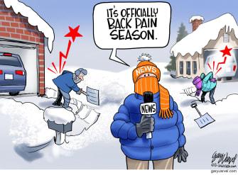 Editorial Cartoon U.S. winter snow