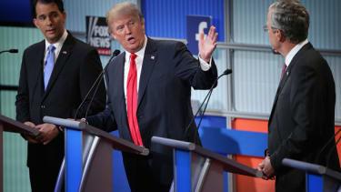 Donald Trump during the August Fox News Republican debate.