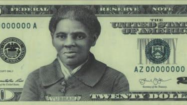 A preliminary $20 bill design featuring Harriet Tubman.