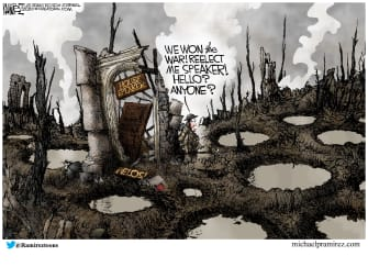 Political Cartoon U.S. Pelosi speaker elections