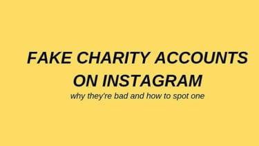 Fake charity accounts.