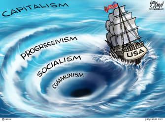 Editorial Cartoon U.S. liberal democrats communism