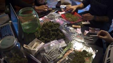 Marijuana given out at inauguration.