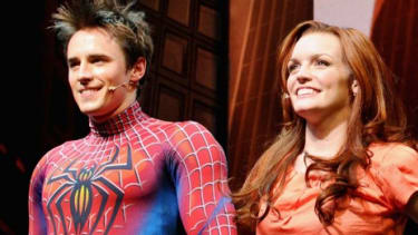 """""""Spider-Man: Turn Off The Dark"""" cast members bow during a summer performance: The critically savaged, $75-million production had an impressive $2 million box-office gross last week."""
