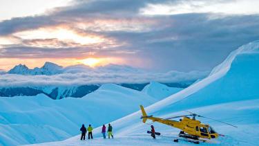 Heli-boarders outside Stewart, B.C.