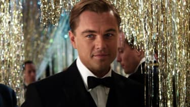 Leonardo DiCaprio as Jay Gatsby in The Great Gatsby.