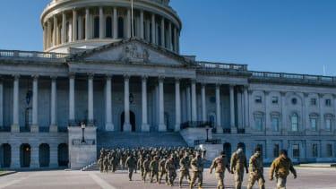 National Guard troops at U.S. Capitol.