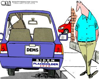 Political Cartoon U.S. Biden 2020 Democrats