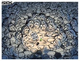 Editorial Cartoon World vaccine hopes coronavirus