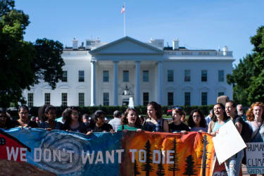 Climate protest outside White House