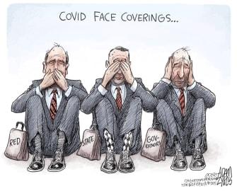 Political Cartoon U.S. GOP governors coronavirus response