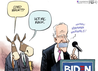 Political Cartoon U.S. Joe Biden coronavirus mask gaffes