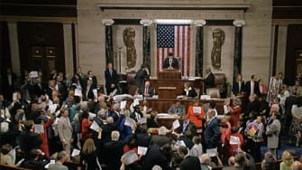 House Democrats hold sit-in for gun control vote
