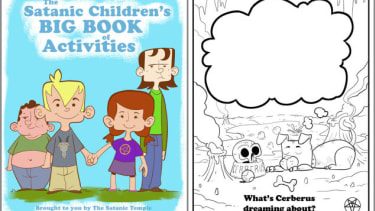Satanists made a coloring book for schoolchildren