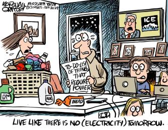 Editorial Cartoon U.S. winter weather power