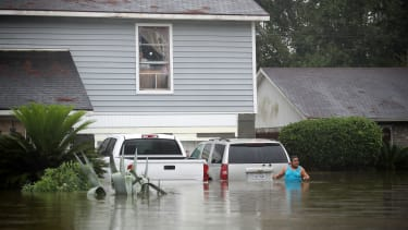 Houston, inundated by floods.