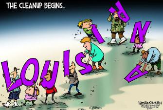 Editorial Cartoon U.S. Louisiana Hurricane Laura