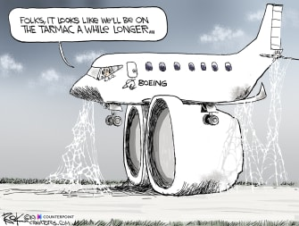 Editorial Cartoon U.S. Boeing 737 Max Grounded