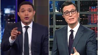 Stephen Colbert and Trevor Noah on Jeff Bezos v. the National Enquirer