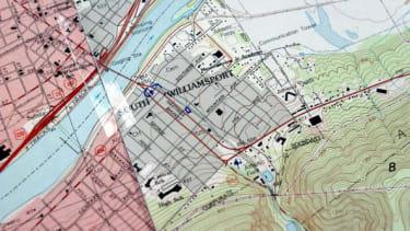 A pennsylvania map.