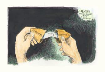 Political Cartoon World Hong Kong Dissidents Run Fortune Cookie