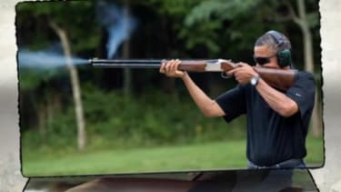 Mitch McConnell ad: Hey, Obama fired a gun, too