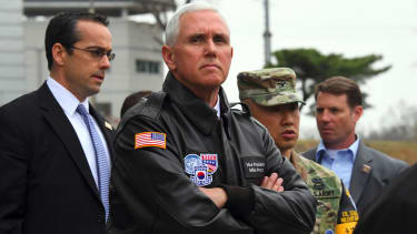 Vice President Mike Pence visits the DMZ