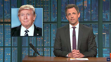 Seth Meyers makes up mean birthday wishes for Donald Trump