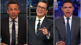 Late-night hosts ponder avocados and Trump's border policy