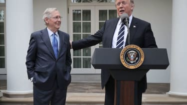 Sen. Mitch McConnell and President Trump.