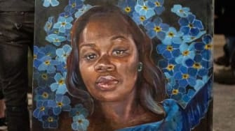 A painting of Breonna Taylor.