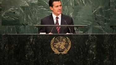 Mexican President Enrique Peña Nieto speaks in New York for the annual United Nations General Assembly.
