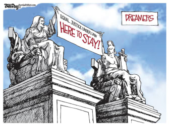 Editorial Cartoon U.S. Supreme Court DACA decision